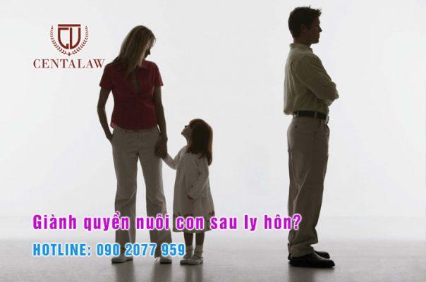 Giành quyền nuôi con sau ly hôn?