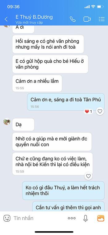 feedback thuy binh duong về dịch vụ ly hôn nhanh Centalaw
