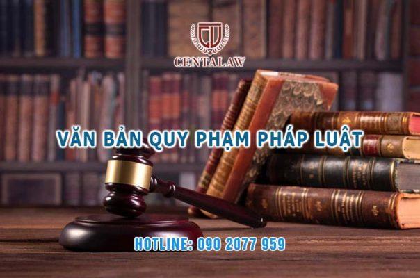 Văn bản quy phạm pháp luật là gì?